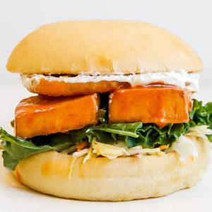 buffalo tofu burger